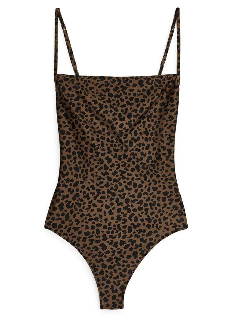 leopard baddräkt för dam 2020