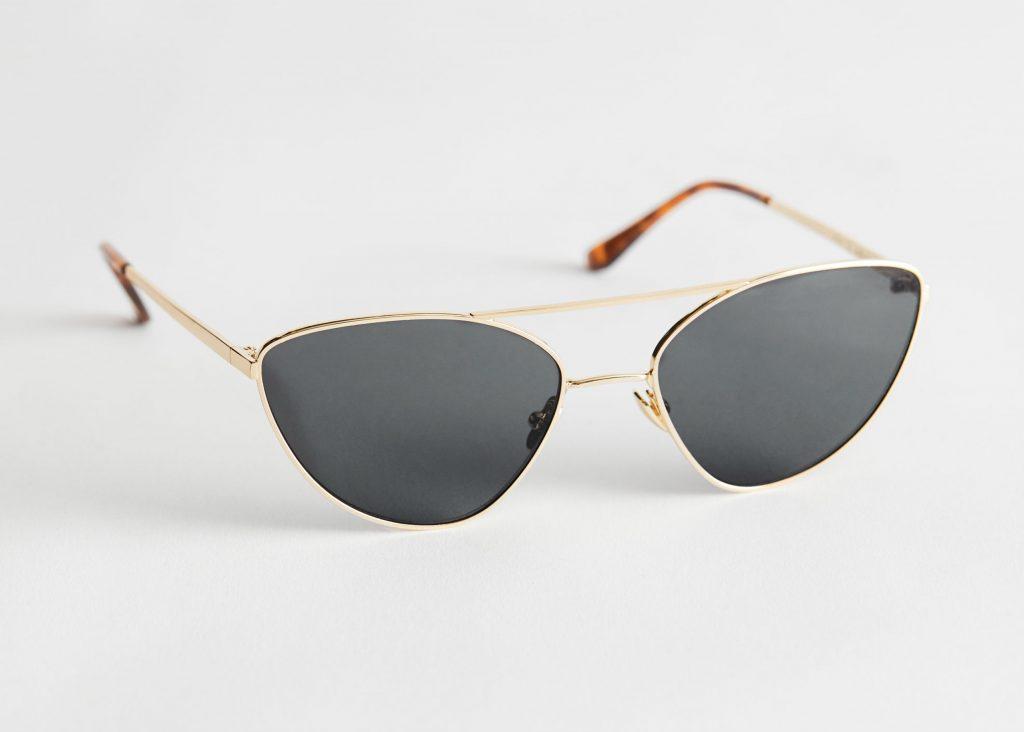 solglasögon bågar metall