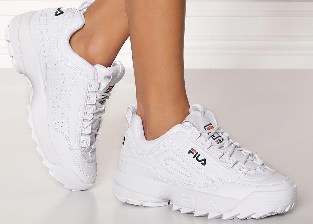 vita sneakers för dam fila