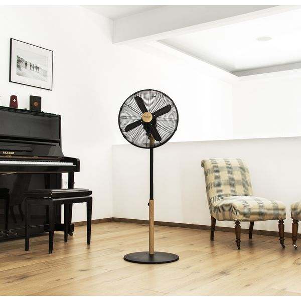 freestanding fan cecotec forcesilence 560 woodstyle 60w 3