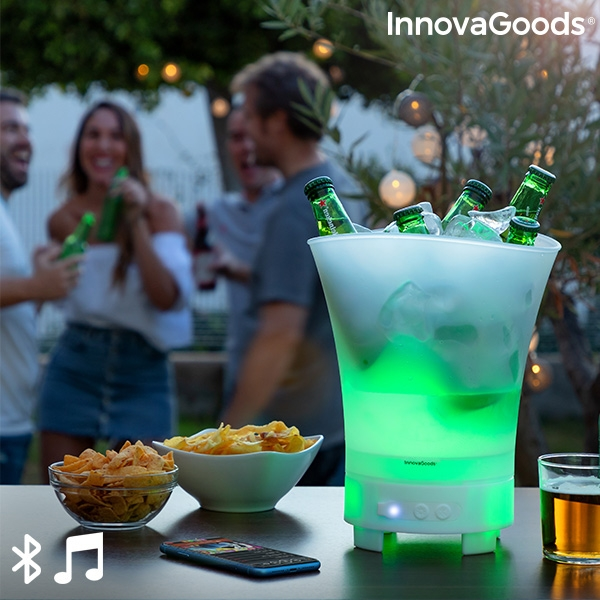 led bucket with rechargeable speaker sonice innovagoods 118533