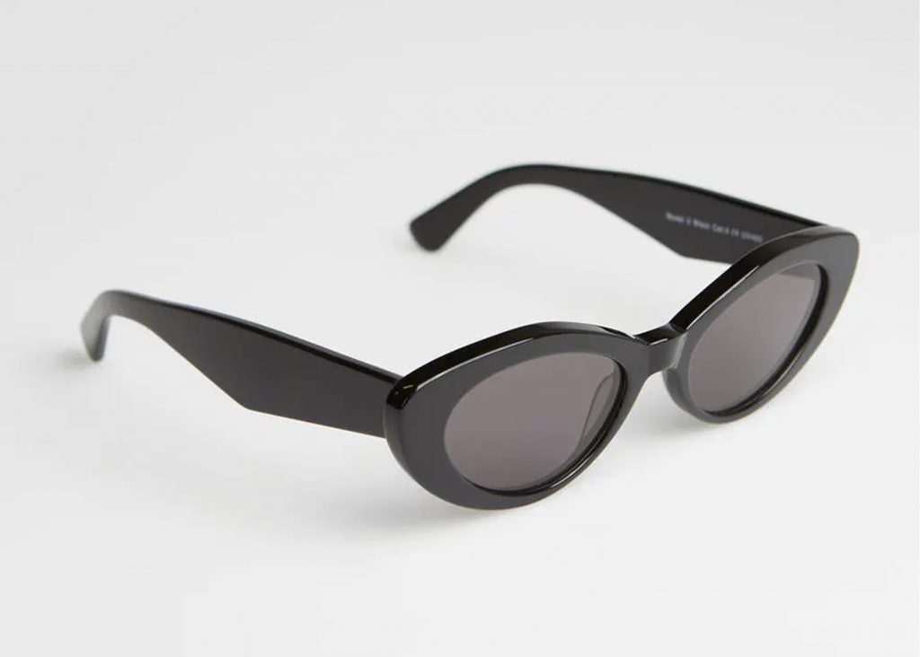 svarta runda solglasögon dam