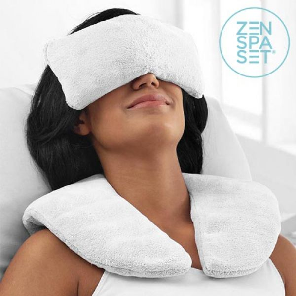 zen spa set cushion relaxing pads cold heat