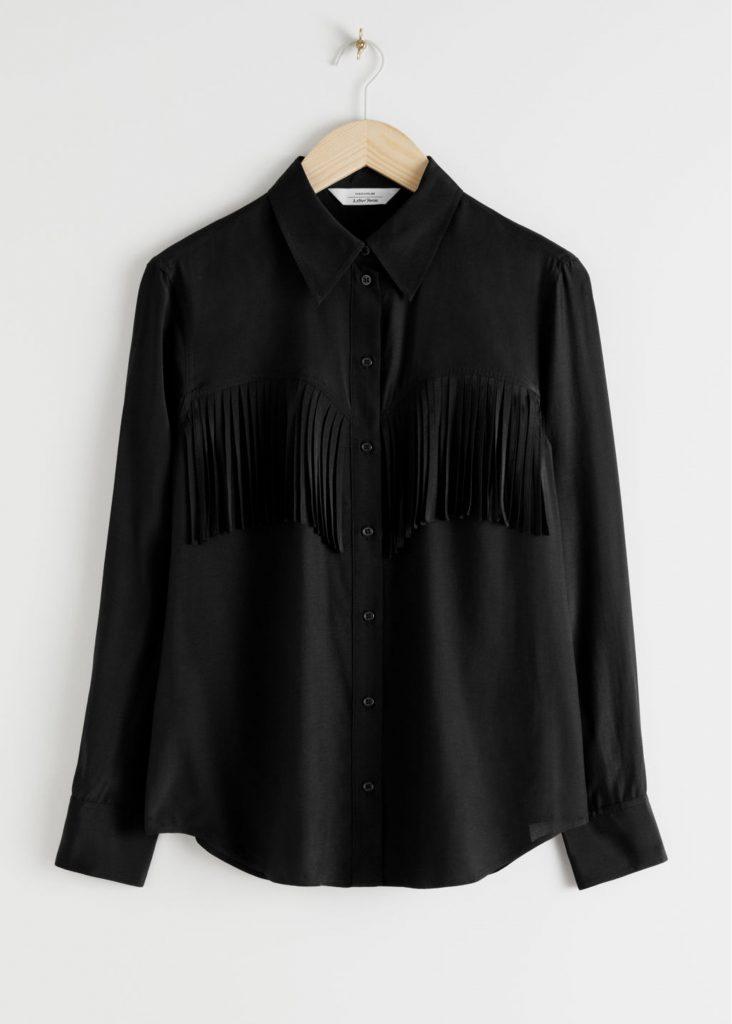 höstmode 2020 fransar skjorta