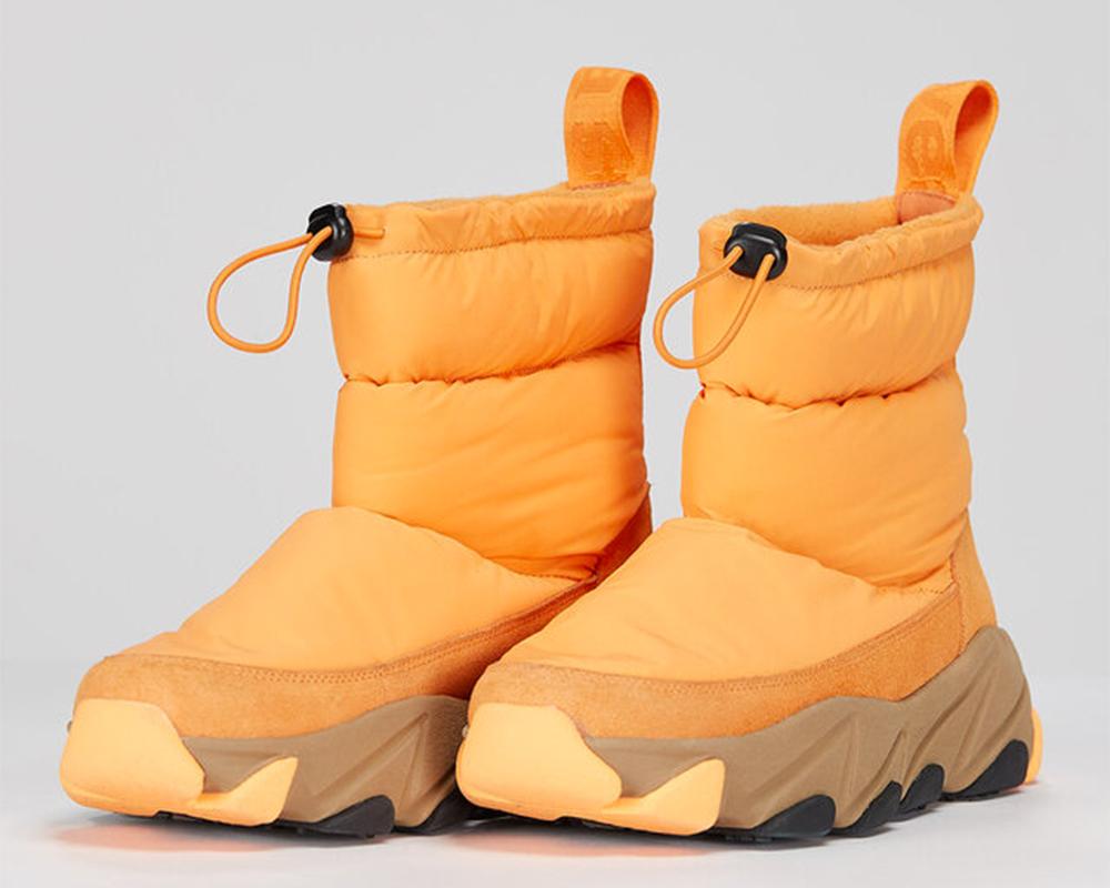 Orange vinterboots dam åhlens