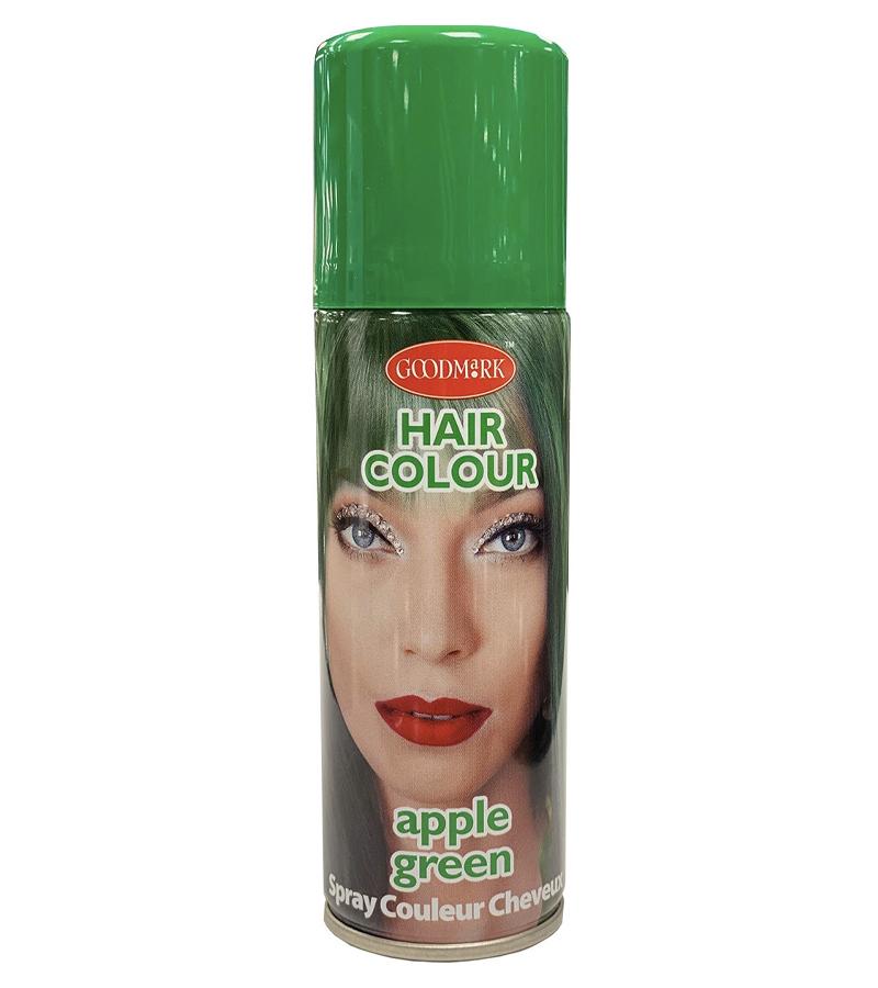 grön hårfärg smink sminkning kläder halloween