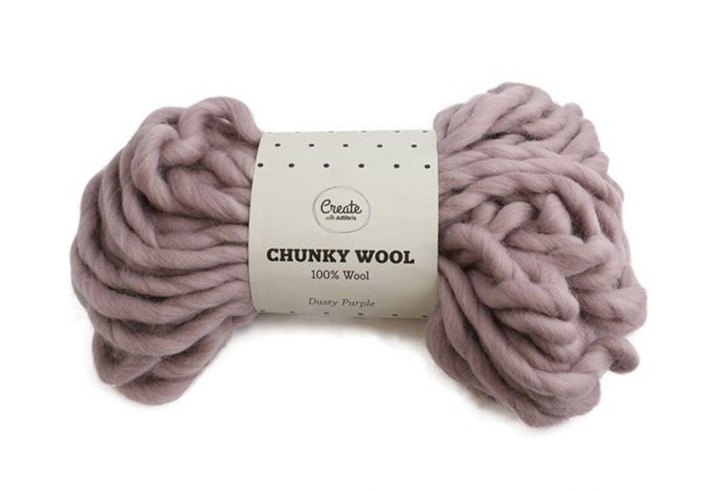 lila chunky garn knit