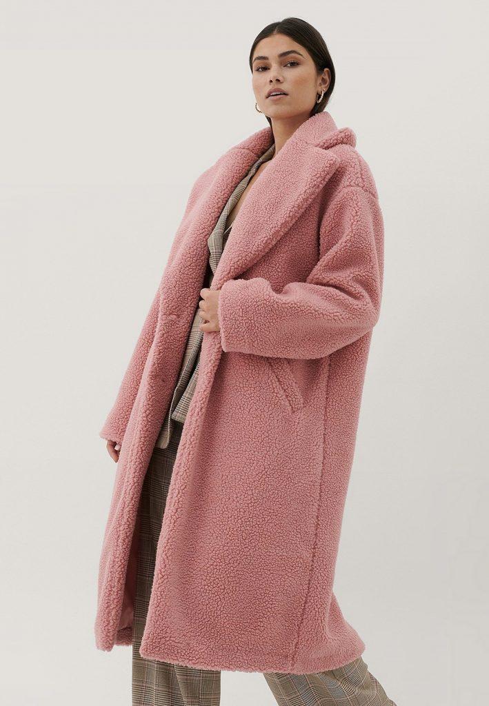 rosa teddyjacka vinterjacka