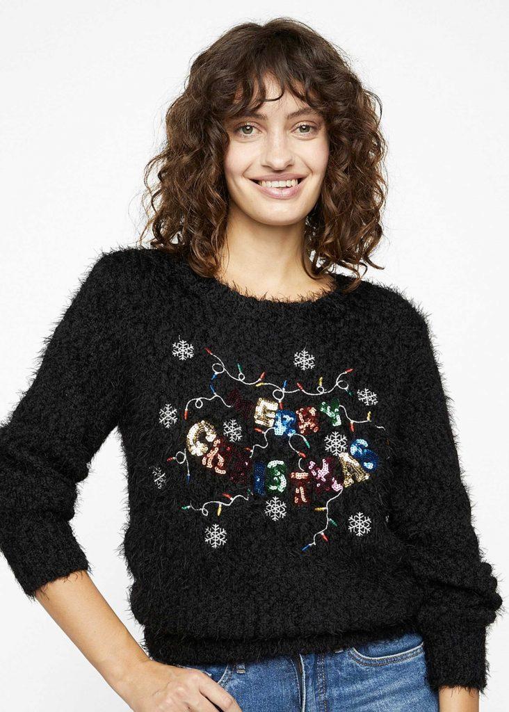 svart jultröja ful för dam