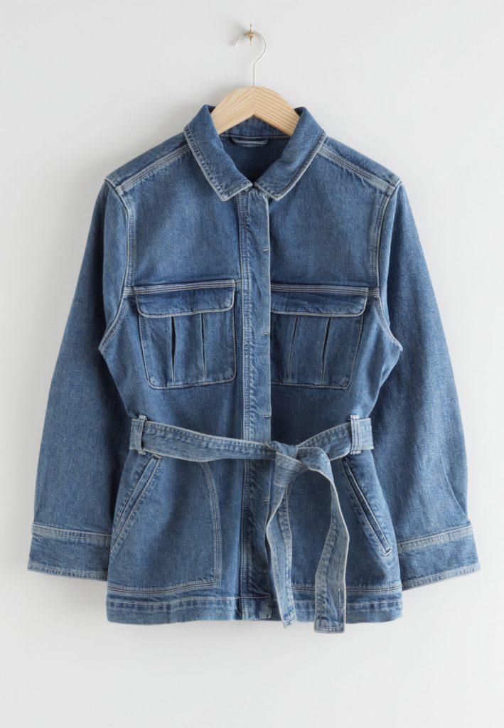 blå jeansjacka stories dam