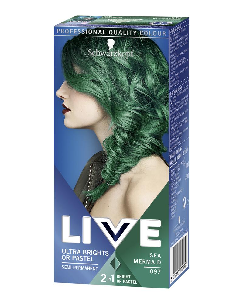 grön hårfärg frisyr mellanlångt hår 2021