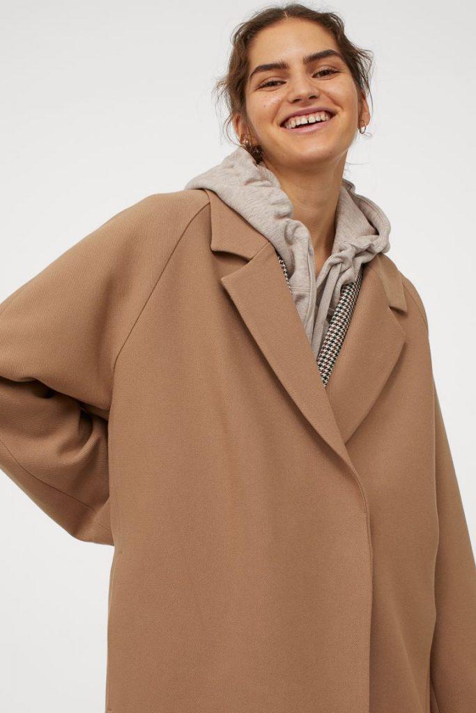 Mörkbeige kappa H&M