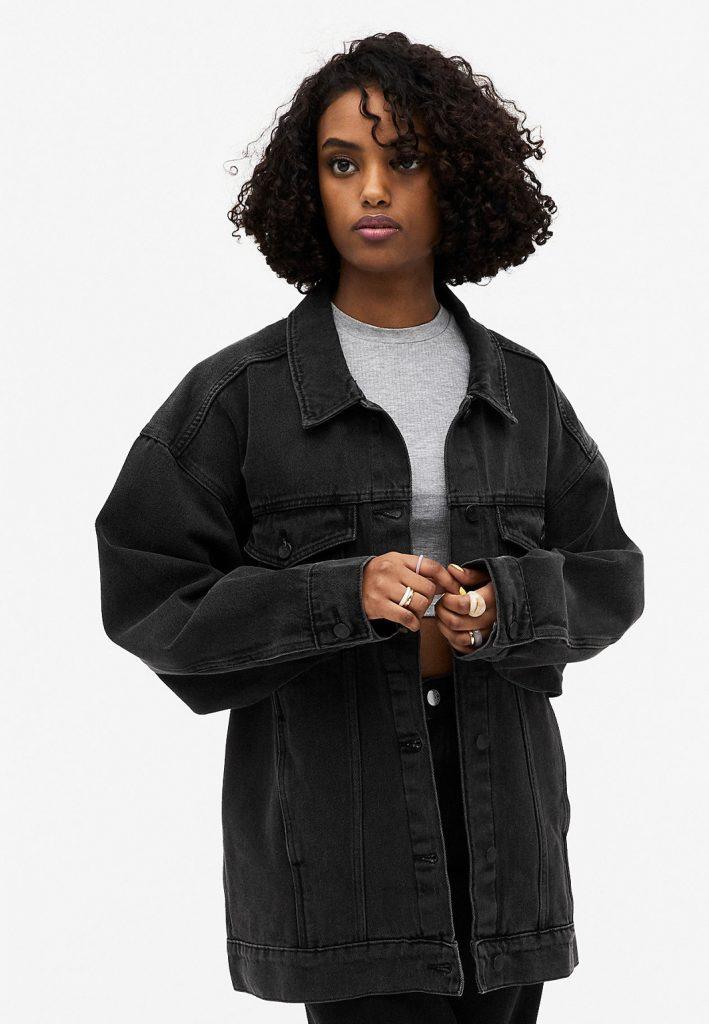 jeansjacka svart 2021 vinter