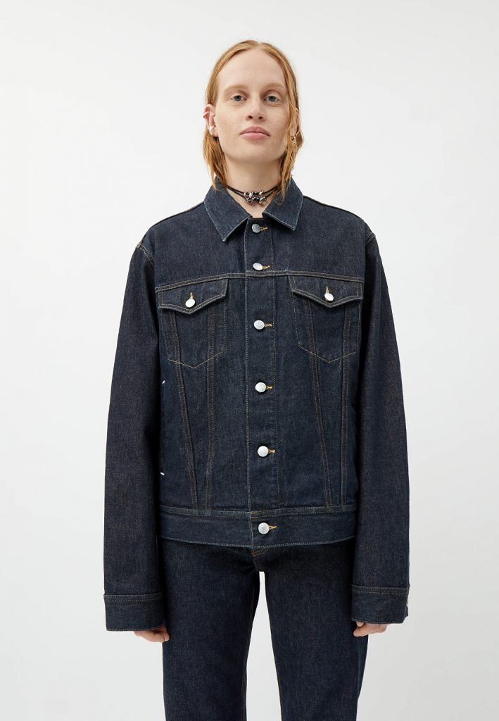 mörk jeansjacka dam