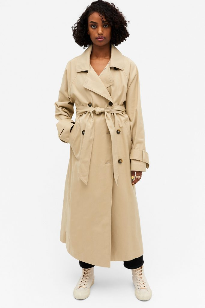 monki beige trenchcoat
