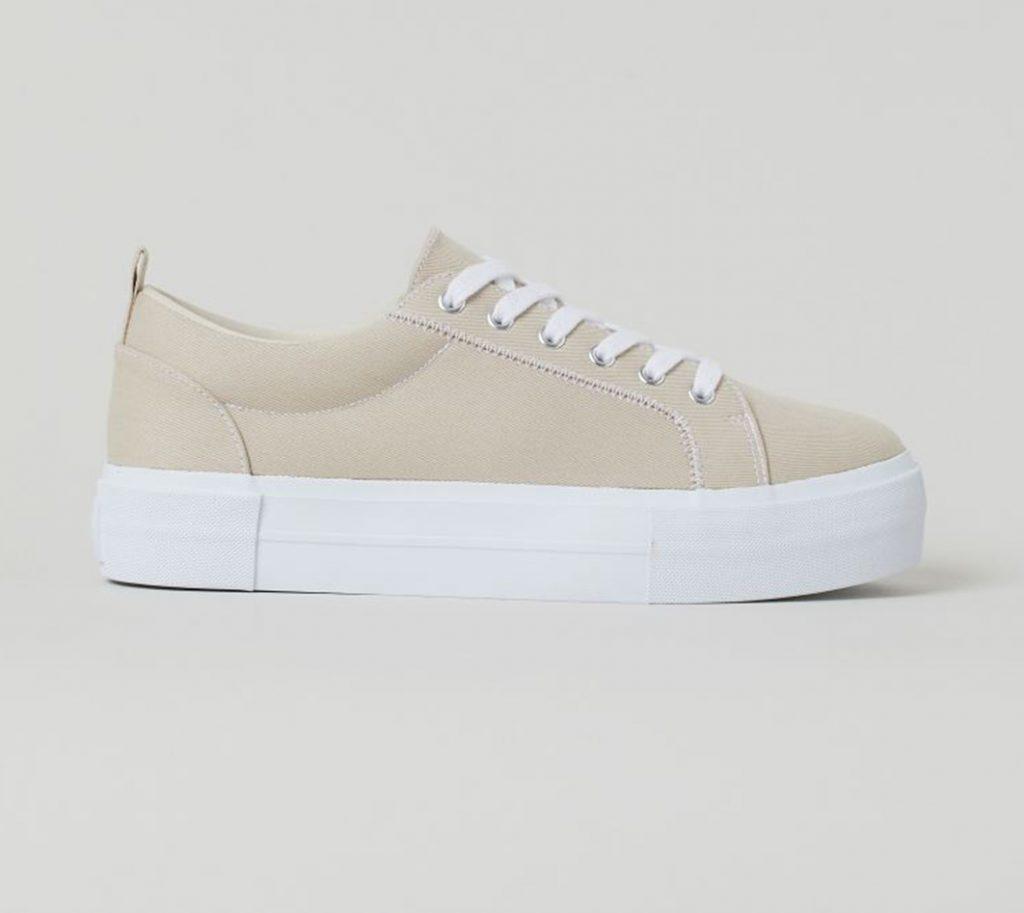 Beige sneaker H&M