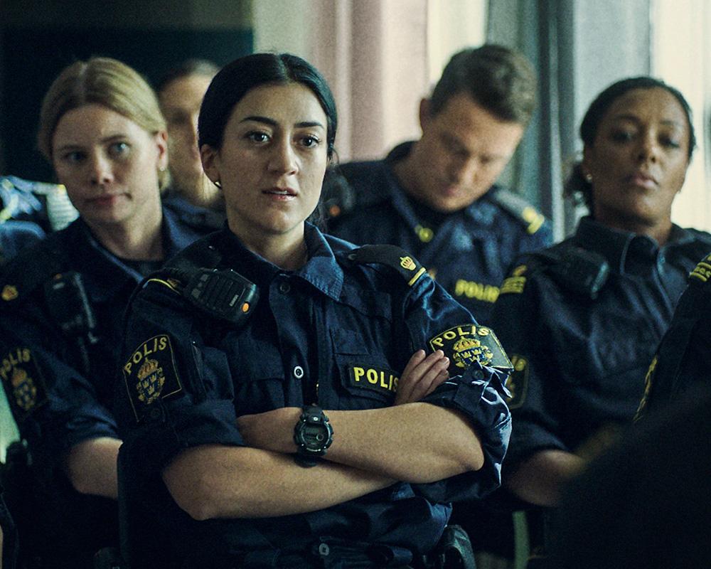 SVT Tunna blå linjen trailer skådespelare musik