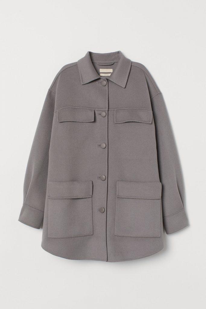 grå skjortjacka hm