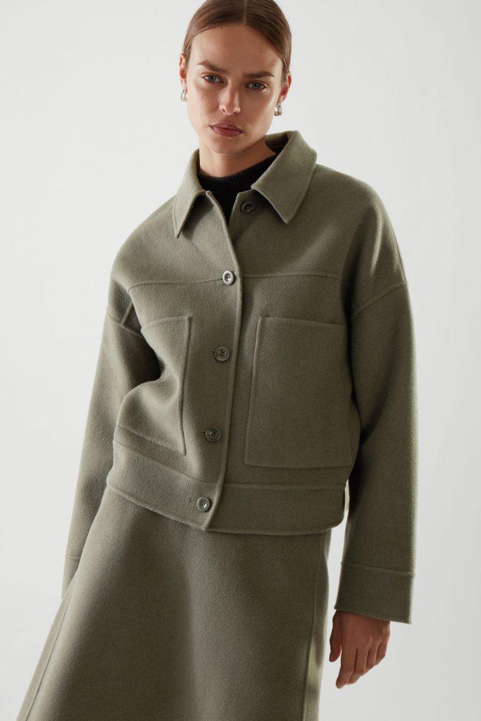 kort skjortjacka gron