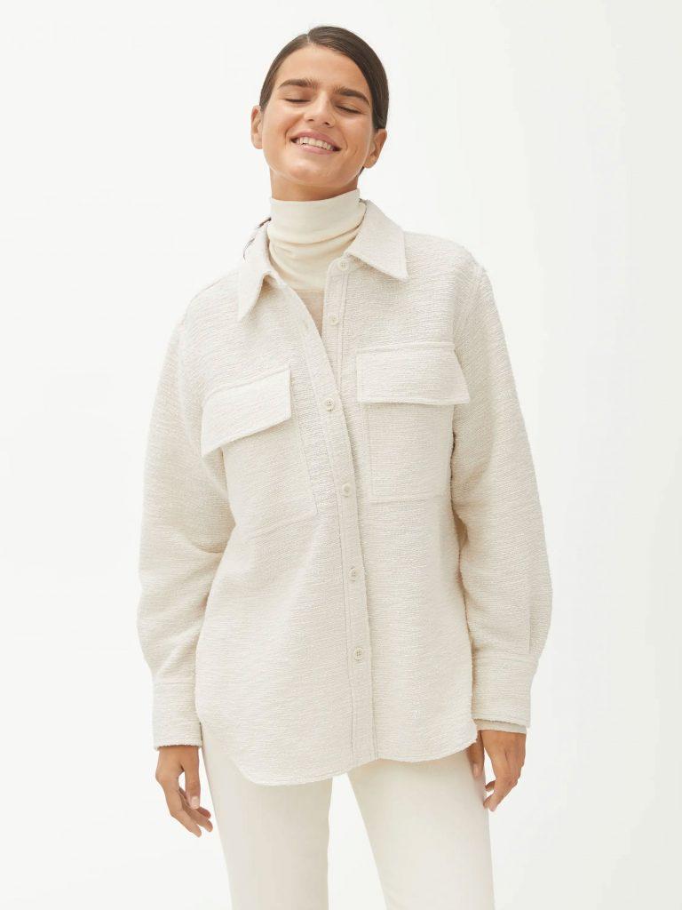 skjortjacka arket vit