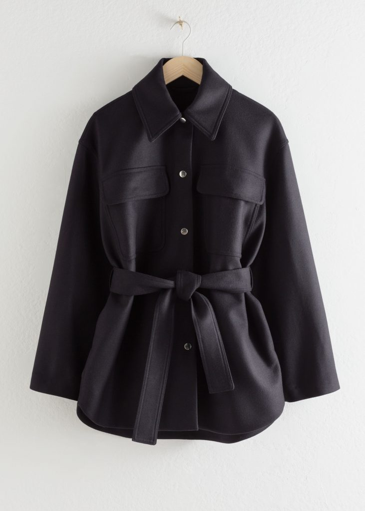 skjortjacka kort svart