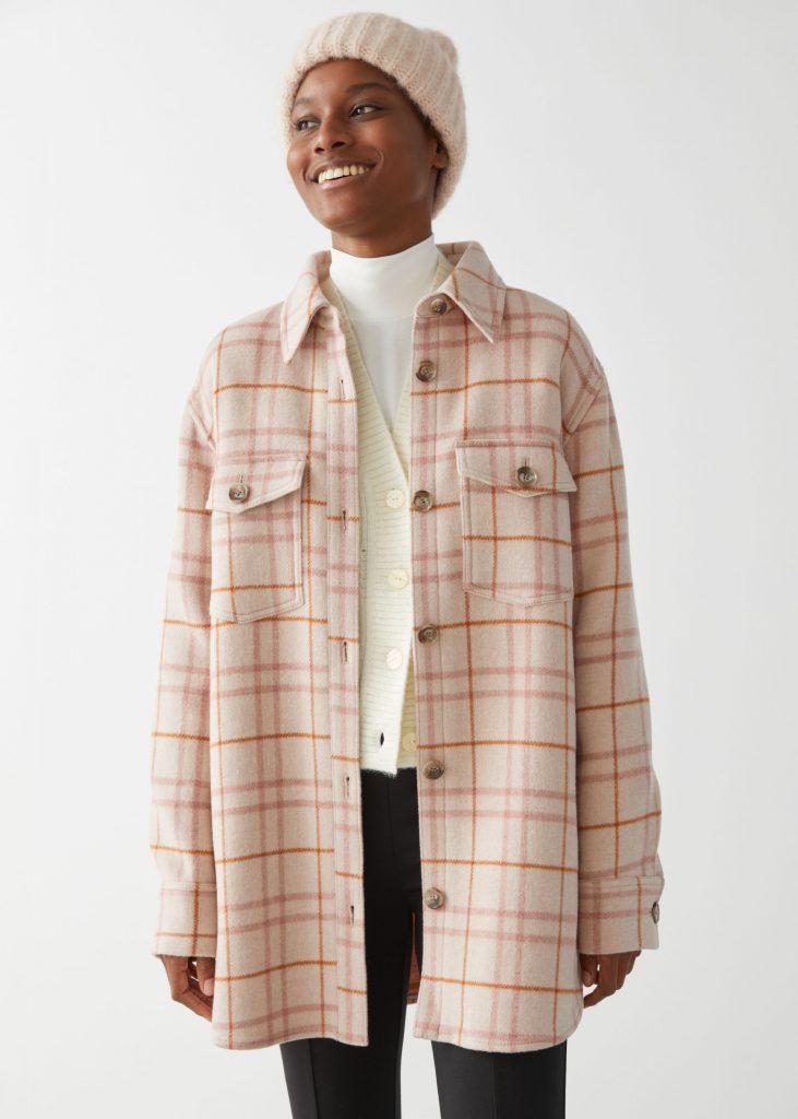 skjortjacka rutig rosa