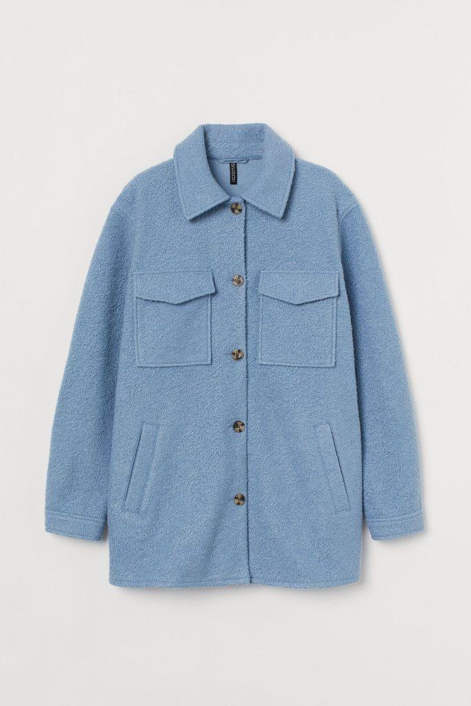 sljortjacka blå oversize