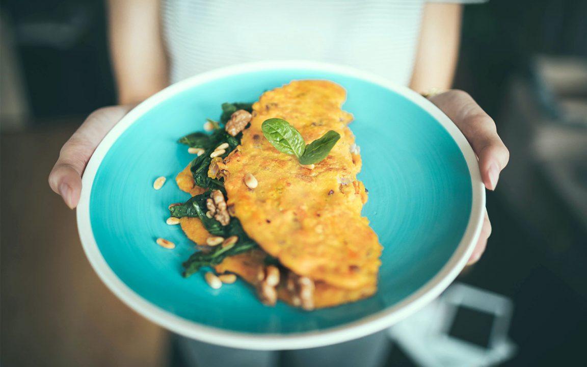 fransk omelett räkor ugn dragarbild