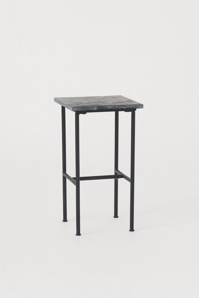 sidobord marmor svart