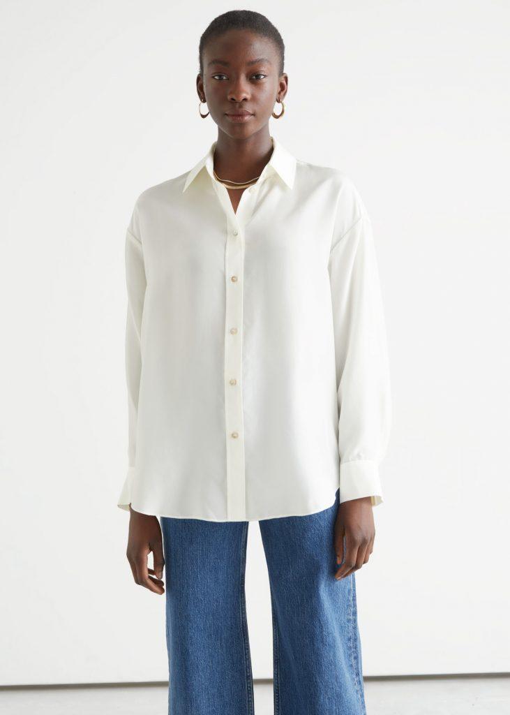 skjorta silke