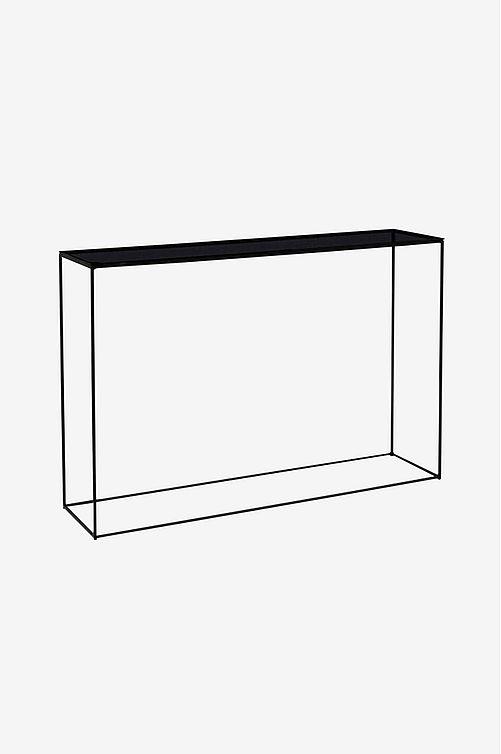 svart sidobord glas