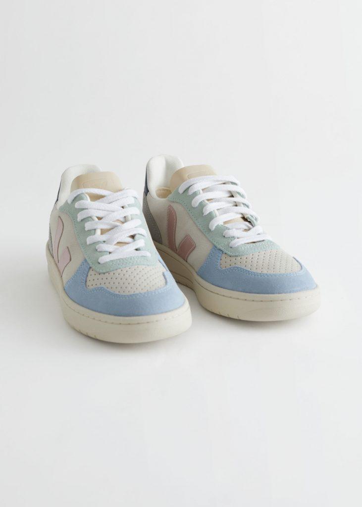 sneakers vita blå