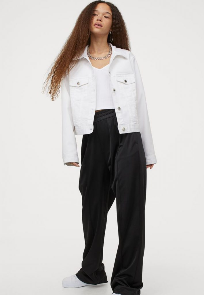 vit jeans jacka