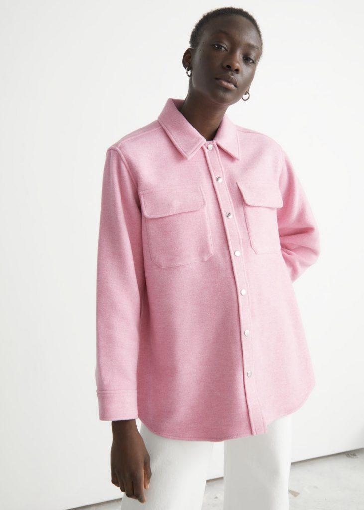 skjortjacka rosa