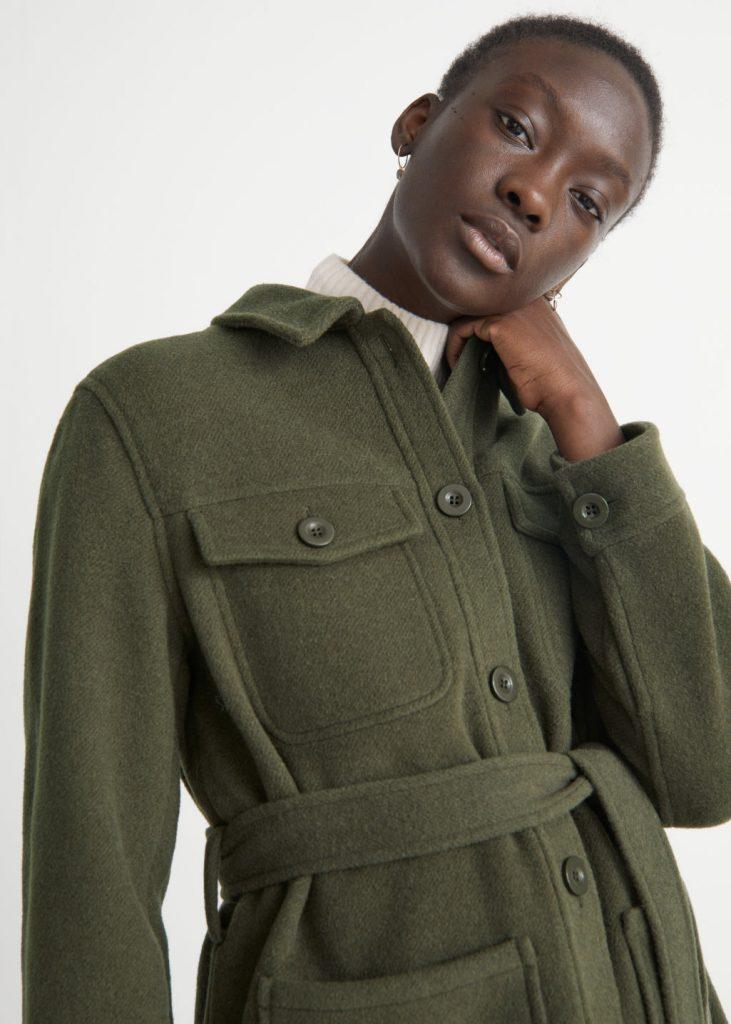 grön skjortjacka dam