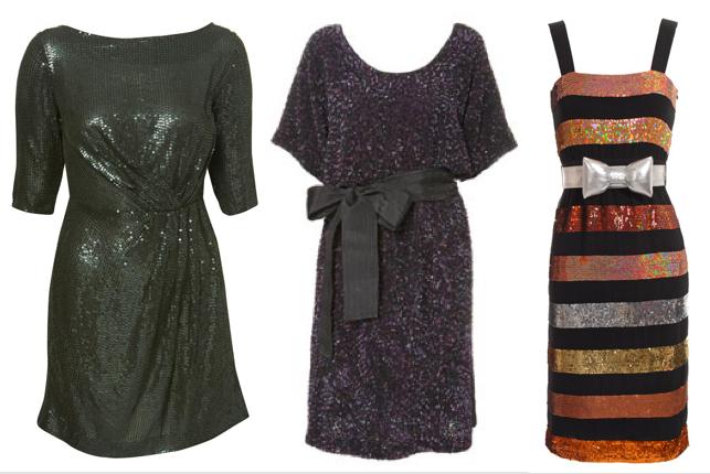 """dcd80da56fcb Svart rygglös paljettklänning i sexg modell, cirka 1000 kr, och """"to die  for""""-snygg plommonsvart kortärmad klänning för närmare 2000 kr, båda från  Topshop."""