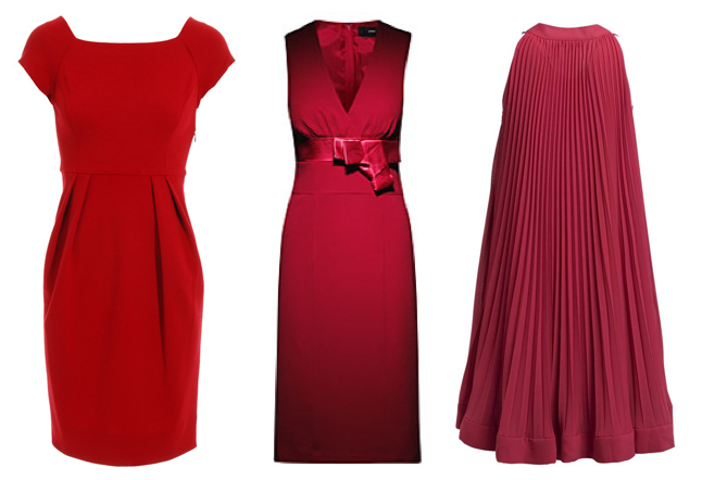 aedcd4b74df7 Röd klänning i ullstretch från Diane von Furstenberg, en investering i  garderoben för 3600 kr. Budgetvariant på raka, röda klänningen från H&M för  349 kr.