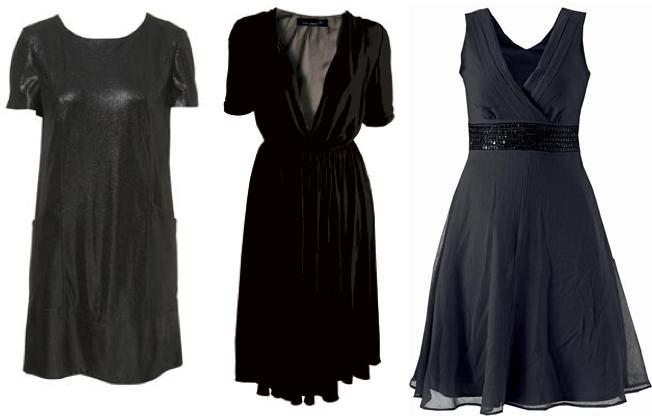 0e01fb2359b6 Coolt blänk i svarta tyget på klänningen i T-shirtmodell från Topshop,  cirka 700 kr. Skön loosefit på fodrade klänningen för 1199 kr Laredoute.
