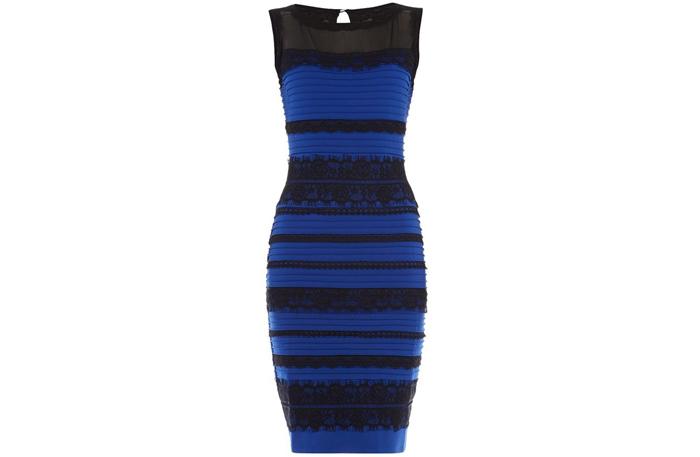 ff62001bd524 Sanningen är att klänningen är blå och svart. Den säljs i en brittisk  webbshop och ser ut såhär på deras sajt: