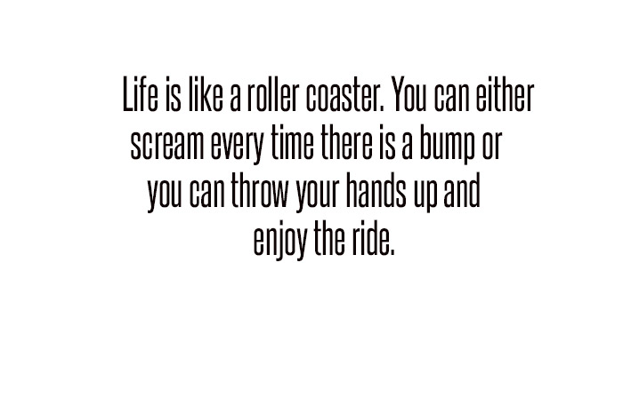 life is like a roller coster