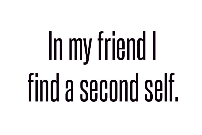 a friend is a second you
