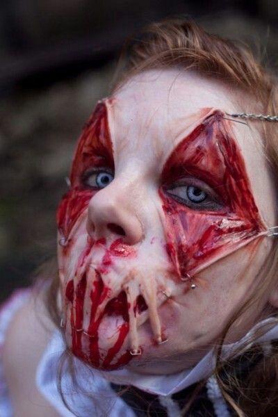 halloween sminkning zombie