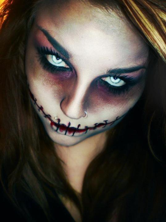 snygga halloween sminkningar